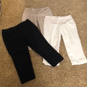 Ann Taylor cropped pant bundle